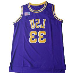 2018 Shaq O'NEAL Basketball Jersey #33 LSU Stiched Yellow &