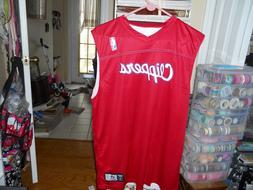 3  LA CLIPPERS ALLESON ATHLETIC RED BASKETBALL JERSEY NIP