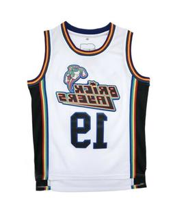 Aaliyah 19 Bricklayers Basketball Jersey White Basketball Je