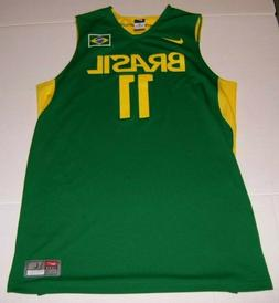 Authentic Anderson Varejao Brasil Basketball Nike Jersey, Si