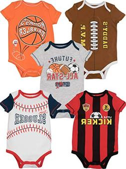 baby boy girl 5 pack sports onesies