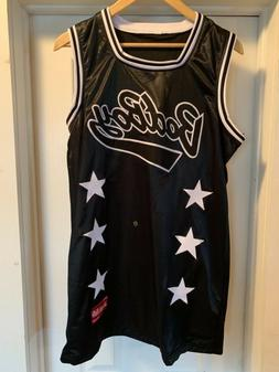 Bad Boy Biggie Smalls Black Basketball Jersey Size M