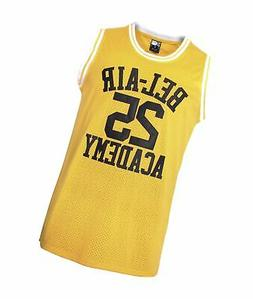 MOLPE Banks #25 Bel Air Academy Yellow Basketball Jersey S-3