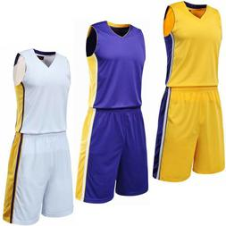 Basketball Jersey and Shorts Men and Kids Size Game Training