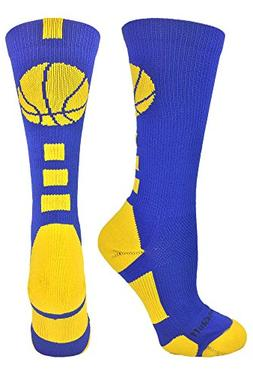 MadSportsStuff Basketball Logo Athletic Crew Socks, Medium -