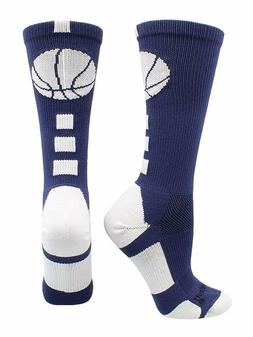 Basketball Socks with Basketball Logo Athletic Crew Socks, N
