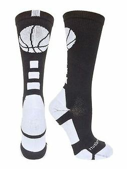 Basketball Socks with Basketball Logo Athletic Crew Socks