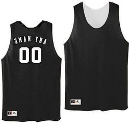 Black/White Adult XL Customized  Basketball Reversible Trico