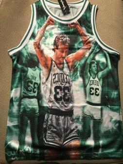 Boston Celtics Larry Bird Basketball Jersey Vintage New Larg