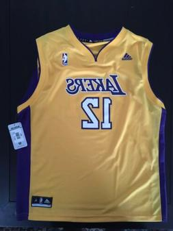 BRAND NEW BOYS XL LAKERS JERSEY YELLOW ADIDAS NBA APPAREL