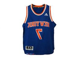 Carmelo Anthony New York Knicks adidas Light Blue 2014-15 Ne