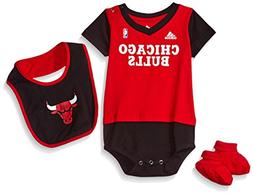 NBA Infant Chicago Bulls Lil Jersey Creeper, Bib and Bootie-