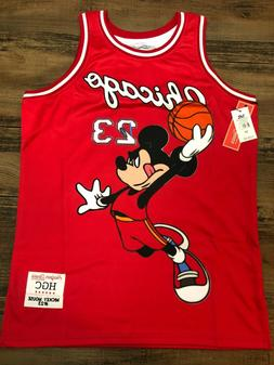 Chicago Mickey Mouse 23 Red Authentic Basketball Jersey by H