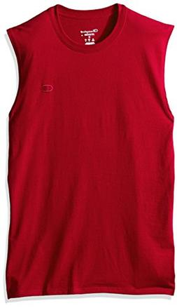 Champion Men's Classic Cotton Muscle Tee Scarlet L