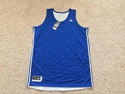 ADIDAS Climalite reversible basketball tank top jersey Blue