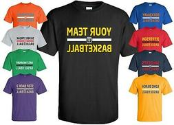 Custom Basketball Jersey T-Shirt with YOUR TEAM NAME Size S-