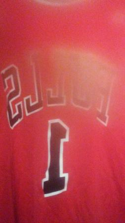 Derrick Rose Chicago Bulls NBA Adidas Red Swingman Mens Sewn
