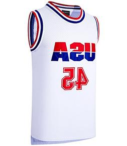 JOLI SPORT Donald Trump 45 USA Basketball Jersey White S-XXX