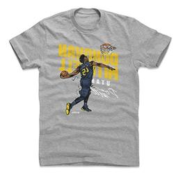 500 LEVEL Donovan Mitchell Cotton Shirt Large Heather Gray -