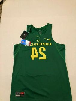 Nike Dri-Fit Oregon Ducks Green Basketball Jersey $120 Men's