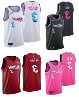 Dwayne Wade #3 Jersey S-XL Miami Heat Swingman Basketball Ne