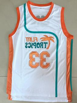 Fang Retro Basketball Movie Semi Pro Jersey Jackie Moon #33