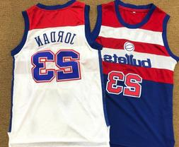 Swingman Jordan Washington Bullets #23 Basketball Jerseys Si