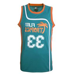 "MOLPE Men's Jackie Moon 33""Flint Tropics Basketball Jersey S"