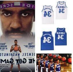 Jesus Shuttlesworth #34 Lincoln He Got Game Basketball Jerse