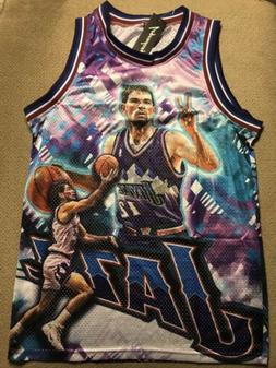 John Stockton Utah Jazz Basketball Jersey Vintage New Medium