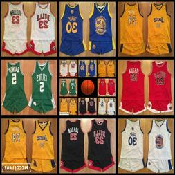 YOUTH JERSEY & SHORTS SET - CELTICS LAKERS BULLS WARRIORS AG