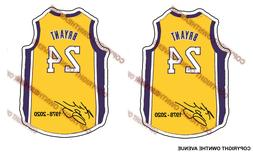 KOBE BRYANT #24 BASKETBALL VINYL JERSEY STICKER CAR TRUCK DE