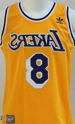 Kobe Bryant #8 Los Angeles Lakers Vintage Yellow Throwback B
