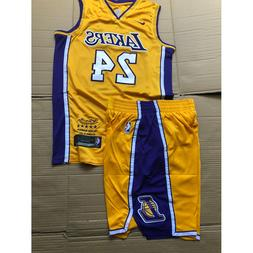 Kobe Bryant Jersey Los Angeles Lakers # 24 Yellow Basketball