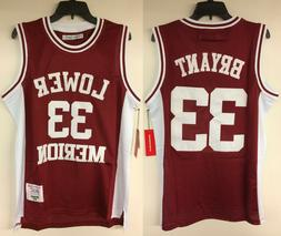 Kobe Bryant Lower Merion High School #33 Authentic Embroider