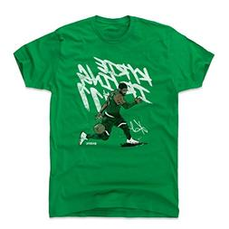 500 LEVEL Kyrie Irving Cotton Shirt Large Kelly Green - Vint