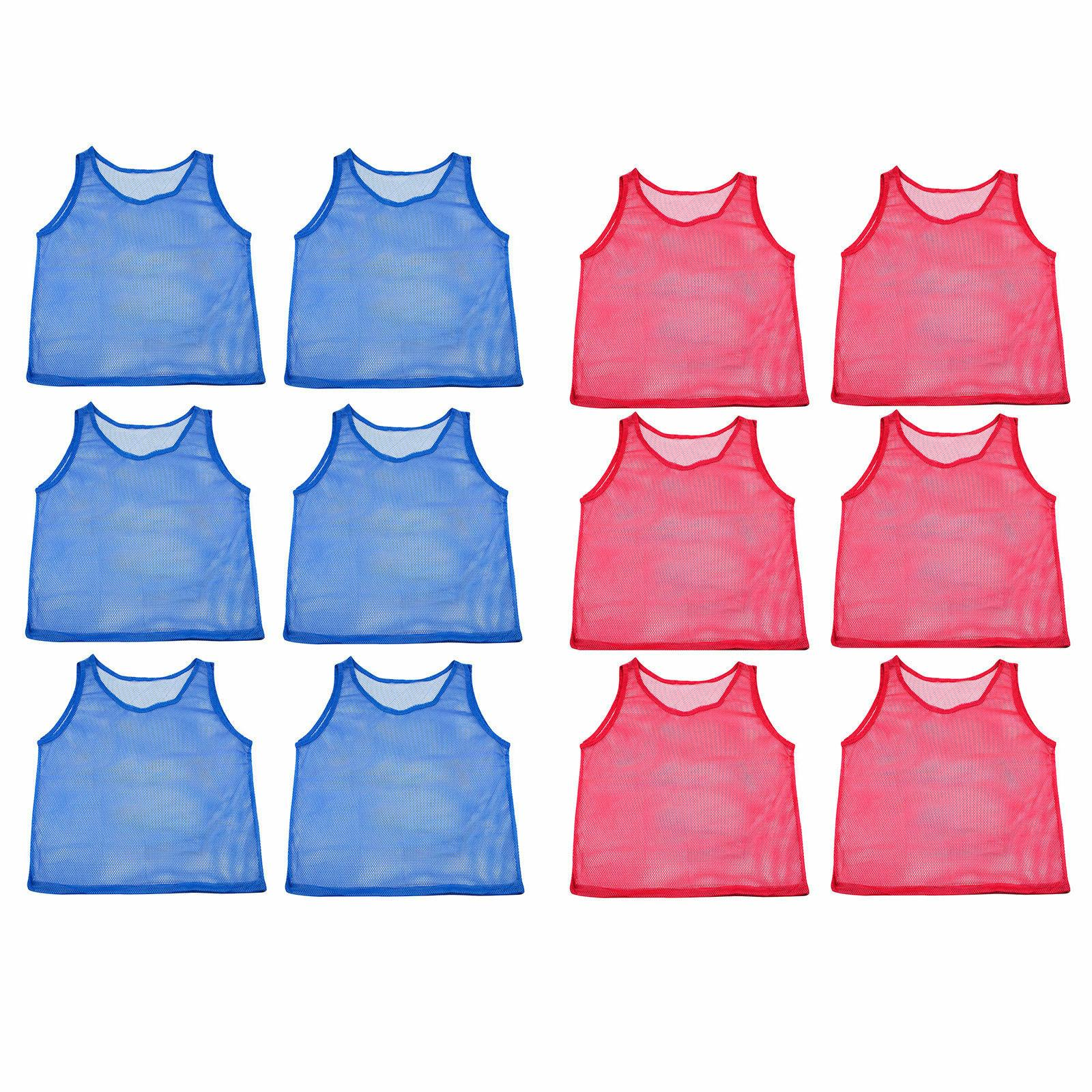 12pc YOUTH Scrimmage Practice Team Jerseys Sports Pinnies Ba