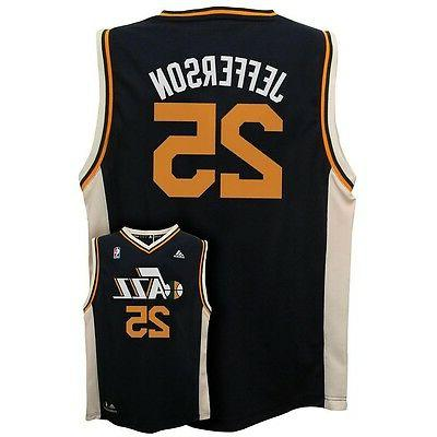 ADIDAS Utah Jazz AL JEFFERSON nba Basketball Jersey YOUTH K