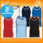 5 X ADULT UNISEX BREATHABLE MOISTURE WICKING GYM SPORT JERSE