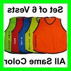 6 SCRIMMAGE VESTS SOCCER BASKETBALL FOOTBALL YOUTH ADULT PIN
