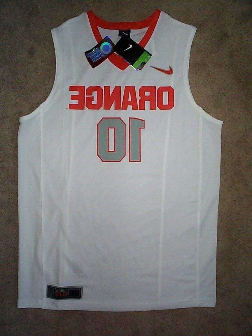 75 syracuse orange 10 basketball jersey adult