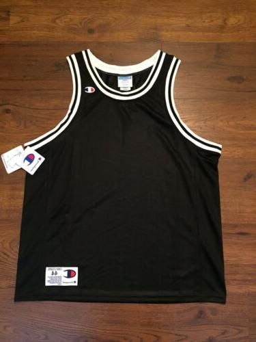 authentic athletic apparel black basketball jersey men
