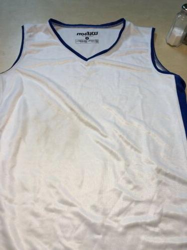 basketball uniform jersey and short white royal