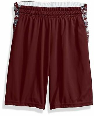 boys hook shot reversible short maroon maroon