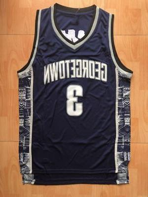 Georgetown Iverson #3 76ers Jersey Stiched