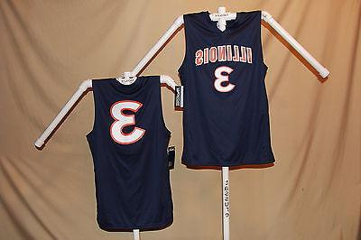 illinois illini basketball jersey 3 size large