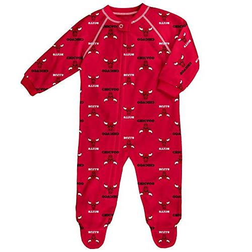 infant toddler chicago bulls coverall zip up