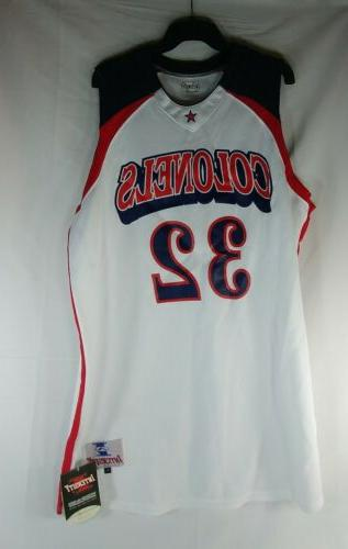 Intensity Basketball Jersey Size Large White Red Blue