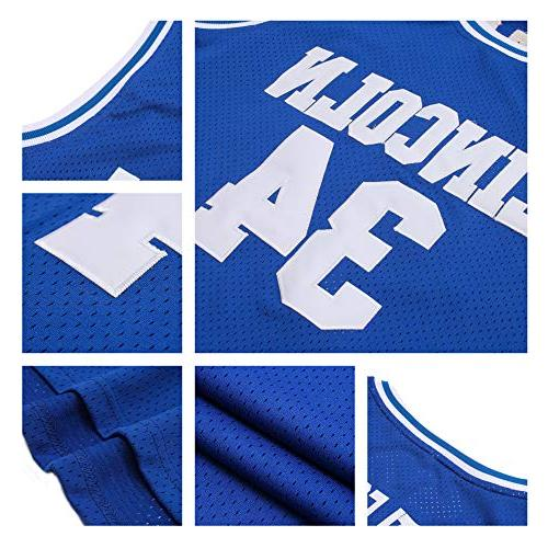 AFLGO Lincoln School Basketball Jersey Include Set Wristbands S-XXL