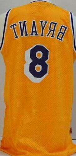 Kobe Bryant #8 Angeles Lakers Yellow Throwback